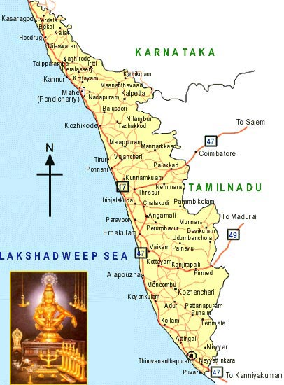 kerala tourism map with distance pdf